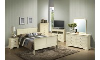 Louis Philippe G3175A Beige Finish Bedroom Set