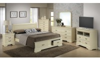 Beige Finish Bedroom Set G3175D Glory Furniture