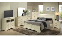 Beige Solid Wood Contemporary Bedroom Set G3175E