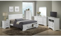 G3190D White Bedroom Set with Storage Bed