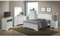 White Finish Bedroom Set G3190E Glory Furniture