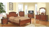 Traditional Solid Wood Poster Cherry Bedroom Set G5900A