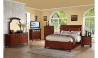 Cherry Finish Bedroom Set G5900B Glory Furniture
