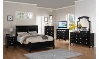 Black Finish Bedroom Set G5925B by Glory Furniture