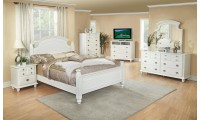 G5975A Poster White Wood Bedroom Set by Glory Furniture