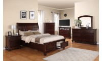 G7000A Bedroom Set in Cherry Finish Wood by Glory Furniture