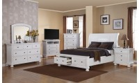 G7075A White Finish Storage Bedroom Set by Glory Furniture