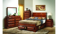 Solid Wood Cherry Bedroom Set G8850A with Storage