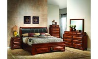 G8850B Traditional Bedroom Set in Cherry Finish