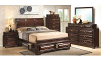 Brown Traditional Storage Bed Bedroom Set G8875A