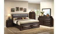 G8850B Traditional Bedroom Set in Walnut Finish