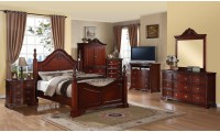 Solid Wood Poster Cherry Bedroom Set G9100A Glory Furniture