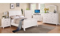 G9875A Sleigh White Bedroom Set in Solid Wood by Glory Furniture