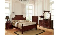 Gabrielle II Traditional Bedroom Set in Cherry with Poster Bed
