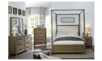 Garland Canopy Bedroom Set in Light Oak and Cream