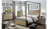 Garland Canopy Bedroom Set in Light Oak Finish