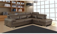 Gary Sectional Sofa in Brown Italian Leather by Nicoletti