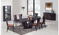 D52 Dining Room Set in Wenge Finish by Global Furniture