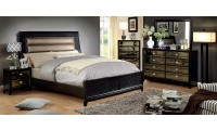 Golva Bedroom Set in Black and Taupe