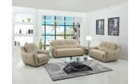2088 Modern Living Room Set in Beige Leather