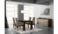 Irene Modern Dining Room Set in Brown Finish