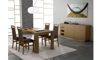 Irene Walnut Modern Solid Wood Matte Dining Set - Made in Spain