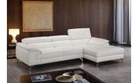 Alice Sectional Sofa in White Leather by J&M Furniture
