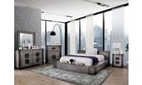 Janeiro Modern Bedroom Set in Light Rustic Gray