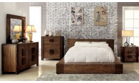 Janeiro Modern Bedroom Set in Natural Tone Finish