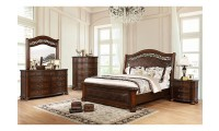 Janiya Bedroom Set in Brown Cherry