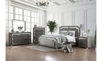 Jeanine Modern Bedroom Set in Gray Finish