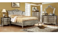 Johara Bedroom Set in Gold Finish