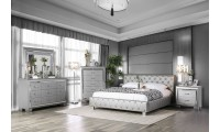 Juilliard Bedroom Set in Silver Finish