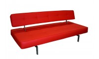 K18 Red Leather Modern Comfortable Sofa Bed