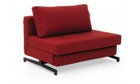 K43 Red Contemporary Chenille Fabric Comfortable Sofa Bed