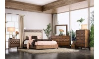 Kallisto Bedroom Set in Chestnut Brown and Beige