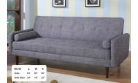 KK18 Modern Sofa Bed Sleeper in Grey Fabric