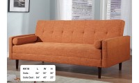 KK18 Modern Sofa Bed Sleeper in Orange Fabric