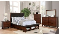 Knighton Bedroom Set in Brown Cherry and Dark Brown
