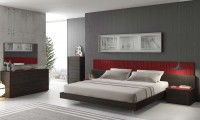 "Lagos Bedroom Set in Brown and Red - USE CODE ""sale"" GET 10% OFF"