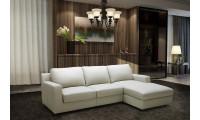 Lauren Sectional Sofa Bed in Light Grey