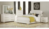 1811W Linnea Bedroom Set in White Gloss Finish