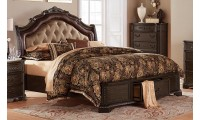 Homelegance Londrina 1917 Bedroom Set in Deep Cherry
