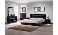 """Lucca Modern Bedroom Set in Black - USE CODE """"sale"""" GET 10% OFF"""
