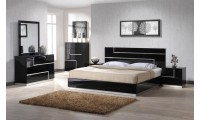 Lucca Bedroom Set in Black Finish by J&M Furniture