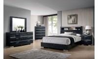 Malte Modern Bedroom Set in Black Finish