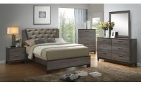 Manvel Bedroom Set in Antique Gray Finish