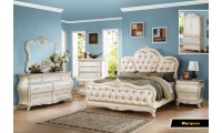 Marquee Classic Bedroom Set in Pearl White Finish