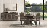 Medea Italian Dining Room Set in Vintage Oak