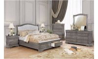 Merida Traditional Bedroom Set in Brown Gray